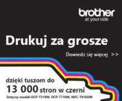 Jesteśmy kluczowym partnerem handlowym firmy Brother